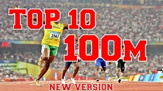 TOP 10 100m Track Field Sprints Of All Time