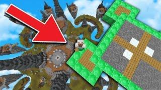 HUGE SKYBASE TROLL in Minecraft SKYWARS...