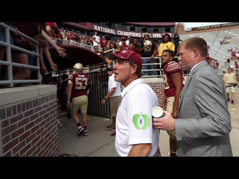 Jimbo Fisher Has Verbal Exchange with Fan After Louisville Game