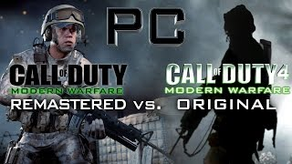 MODERN WARFARE: REMASTERED vs. COD4 - PC Multiplayer Comparison [60fps]