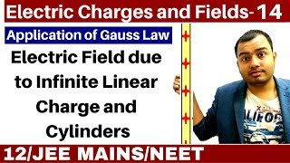 Electric Charges and Fields 14 | Electric Field due to Infinite linear Charge and Cylinders JEE/NEET