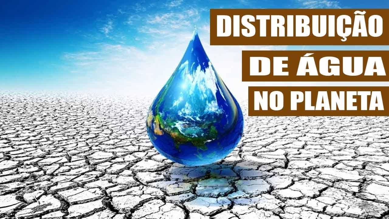 Distribuição da água no planeta e no Brasil