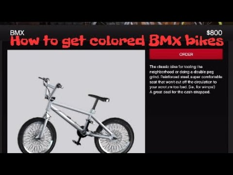 Gta5 How To Get Colored Bmx Bikes Easy Solo Youtube