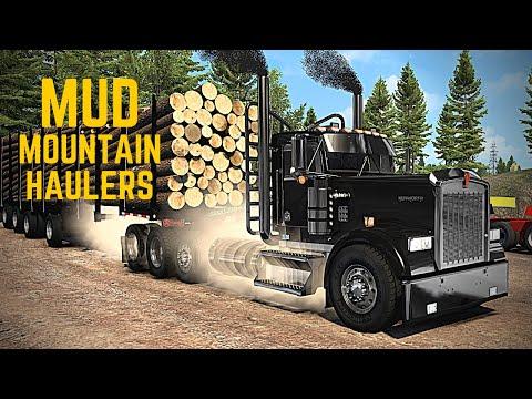 Kenworth W900L Log Truck - (Mud Mountain Haulers) - LeBeau Logging - American Truck Simulator ATS  