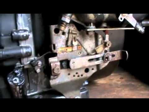 Briggs and Stratton 8HP Throttle and Governor Setup - YouTube