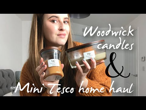 MY WOODWICK CANDLE COLLECTION AND MINI TESCO HOME HAUL