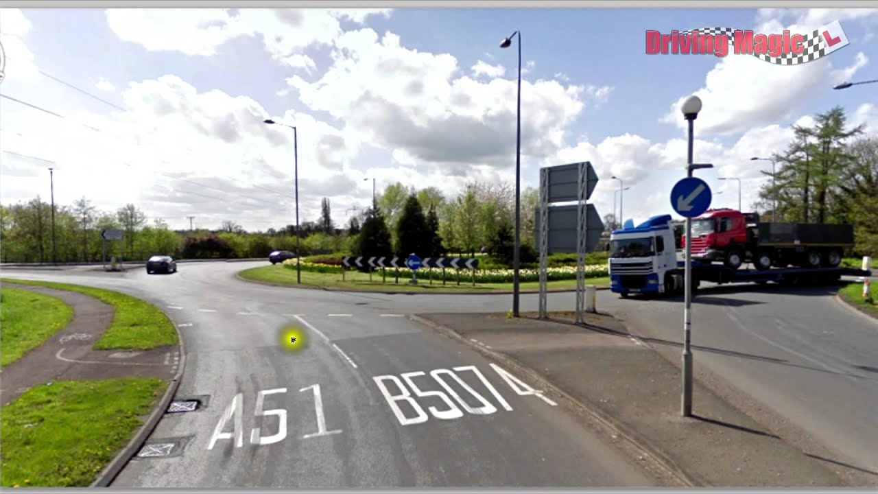 Confusing exits and lanes at a roundabout Driving Lessons