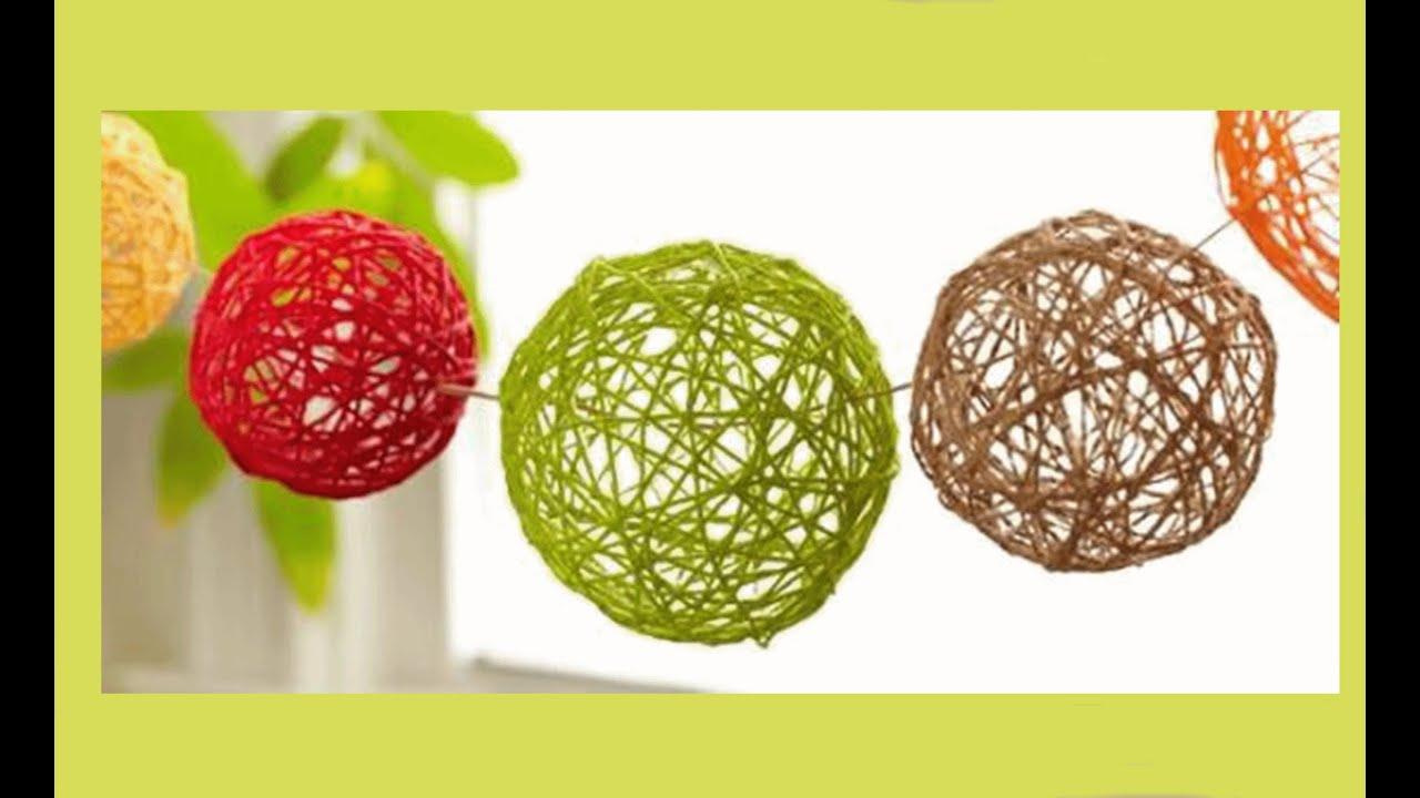 Manualidades f ciles para hacer en casa esferas para for Manualidades faciles decoracion