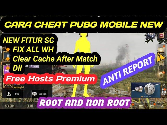 CARA CHEAT PUBG MOBILE NON ROOT AND ROOT TERBARU | FREE HOST VIP |  ANTI REPORT !!!