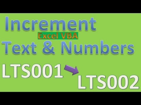 How to Increment Letters and Number Combinations LTS0001 becomes LTS0002 etc