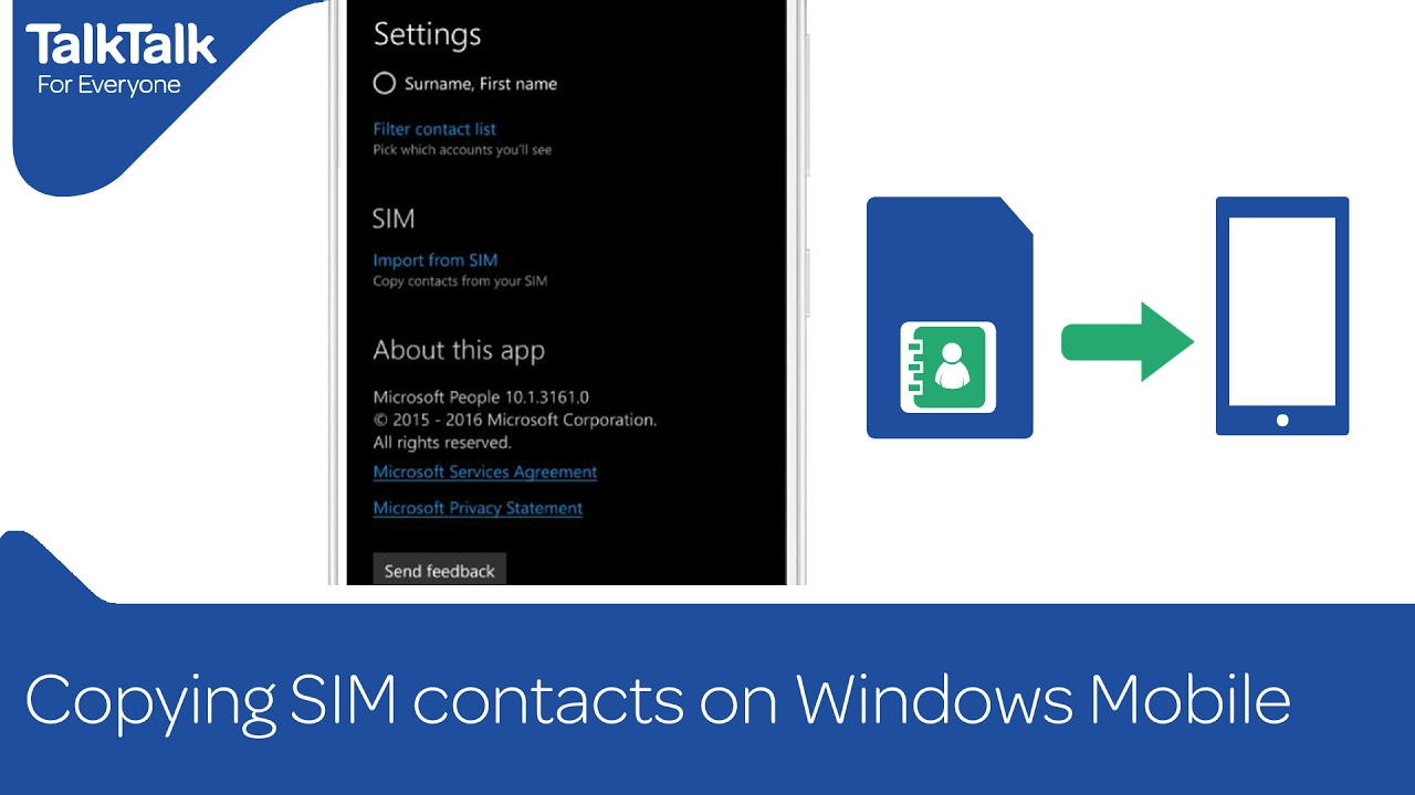 Copying SIM contacts on Windows Mobile