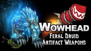 Feral Druid Artifact Weapons - Fangs of Ashamane