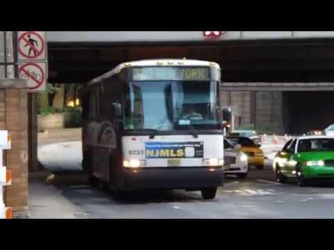 nj transit mci d 4500 bus 8233 on route 320 entering new york youtube. Black Bedroom Furniture Sets. Home Design Ideas