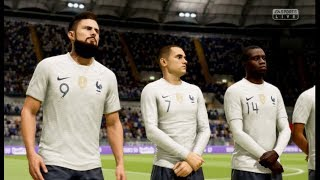 France vs Italie FIFA 19 Difficulté Ultime Gameplay PC