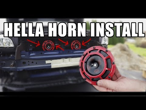 How to Install Hella Horns on a Subaru WRX / Sti Impreza with Grimmspeed Harness and Perrin Bracket