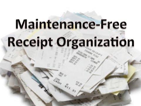 easy receipt organization youtube