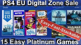 PS4 [EU] DIGITAL ZONE SALE - Easy - Fast & Stackable Platinum Games - until 11th July 2018