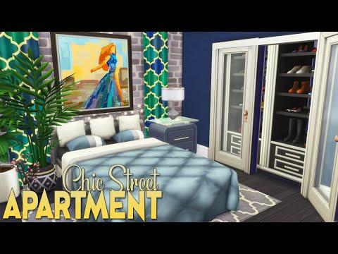 CHIC STREET FASHION APARTMENT | The Sims 4 SPEED BUILD (no cc) thumbnail