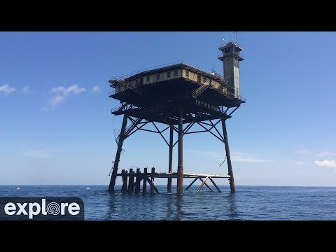 Hurricane Dorian: Live feed from the Frying Pan Tower, an oil rig off the Carolina coast