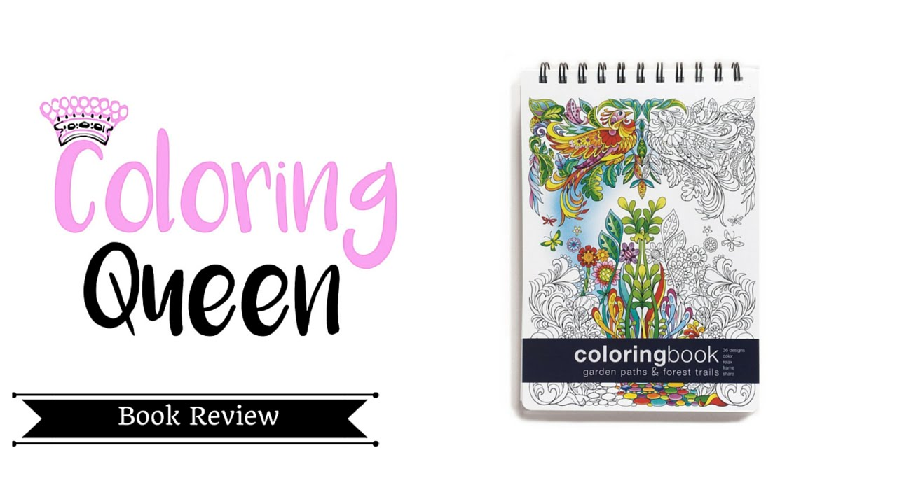 Garden Paths Forest Trails Coloring Book Review