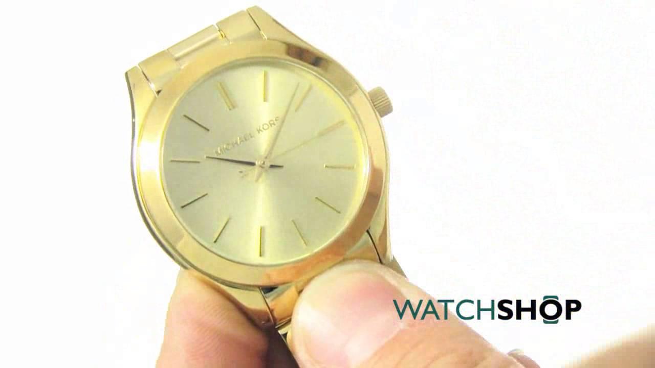 64aa68cf58b9 Michael Kors Ladies  Mini Slim Runway Watch (MK3512) - YouTube