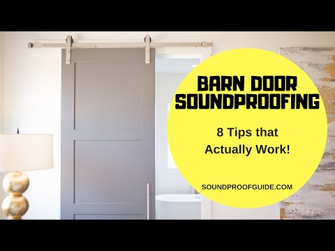 How To Soundproof Barn Doors The Right Way Youtube