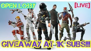 Ps4 fortnite player // Playing With Subscribers // GIVEAWAY AT 1K SUBSCRIBERS // Sub Goal 874/1000