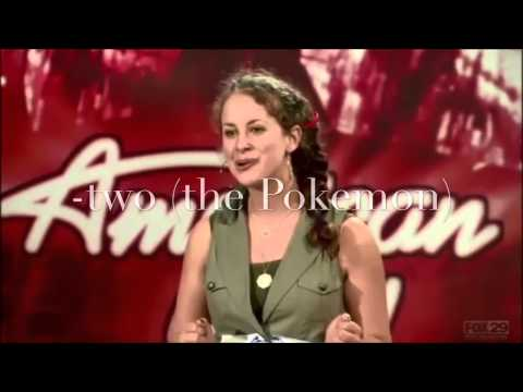 YouTube poop American idol: Sarah Goldberg thinks about steak and mewtwo