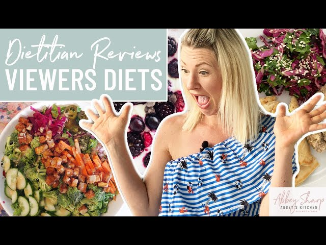 Dietitian Reviews VIEWERS Diets | Abbey's Easy Hacks for Healthy Meals & Snacks!