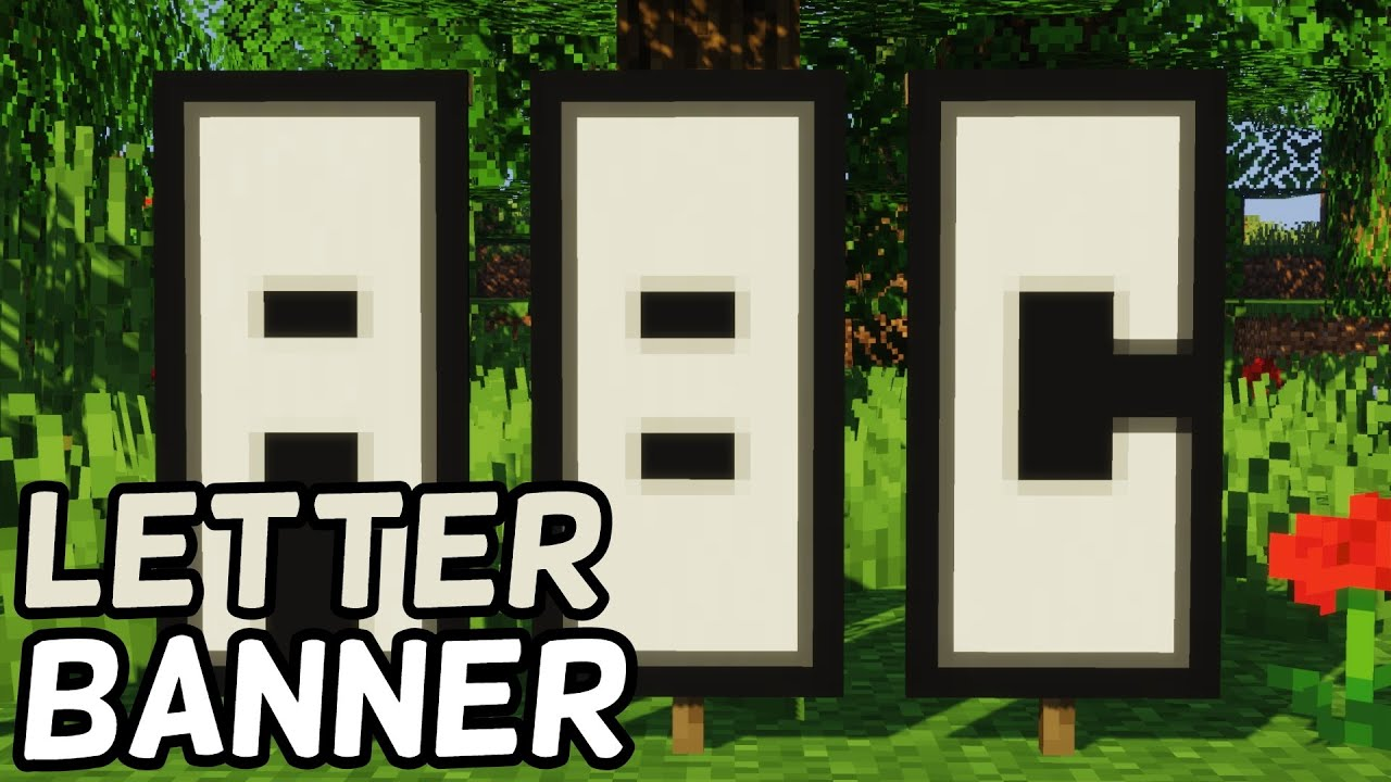 How To Make Letter Banners in Minecraft! (2019)