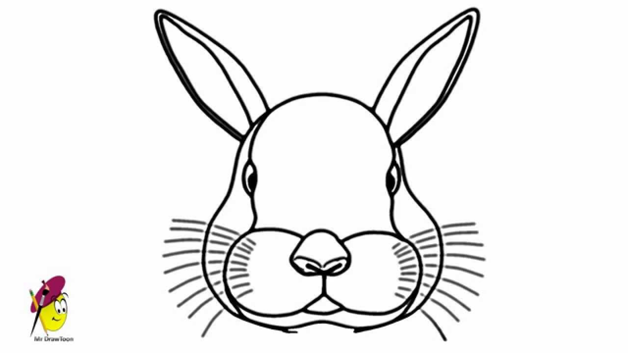 Bunny Face Line Drawing : Bunny drawing how to draw a face youtube