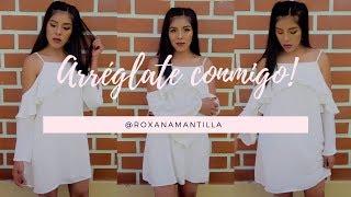 ARRÉGLATE CONMIGO PARA UNA FIESTA | MAQUILLAJE + OUTFIT | Roxana Mantilla
