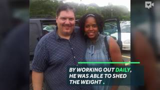 Guy surprises parents with 200-pound weight-loss