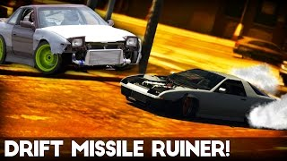 GTA 5 Online | How to make a Drift Missile | Ruiner/240sx (Remove Bumpers/Stance - Tutorial)
