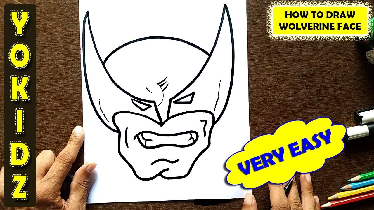 How To Draw Wolverine Face From X Men Youtube Best of wolverine x men drawing easy