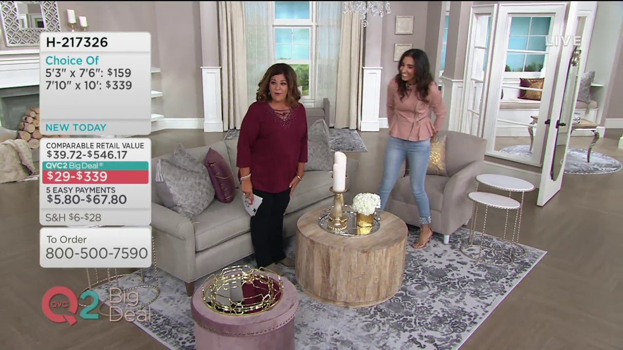 Inspire Me Home Decor Elegant Opulence Rug On Qvc Youtube