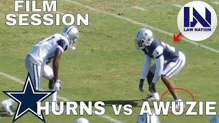 The Dallas Cowboys | Allen Hurns VS Chidobe Awuzie + Coach Kris Richard 🔥🔥🔥ᴴᴰ