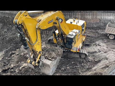 Caterpillar 6015B Excavator Loading Trucks With Two Passes - Sotiriadis Mining Works