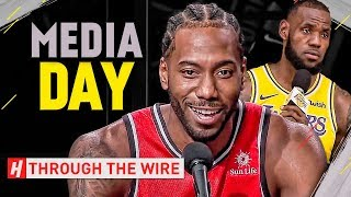 2018 NBA Media Day Takeaways | Through The Wire Podcast