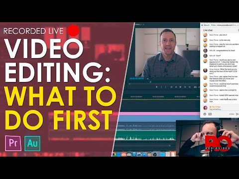 🔴 Live Setup and Editing of a Video in Premiere Pro - Behind the Edit: Live