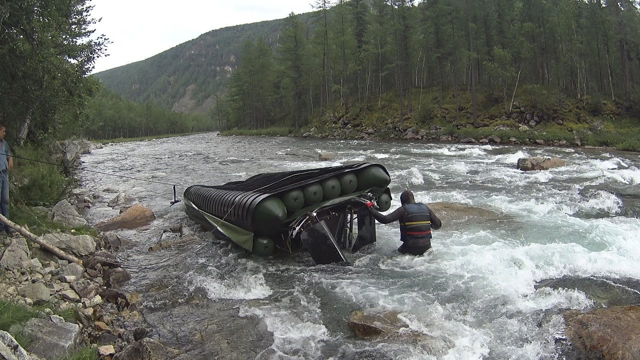 Спасение аэролодки на реке Кан. Полная версия.