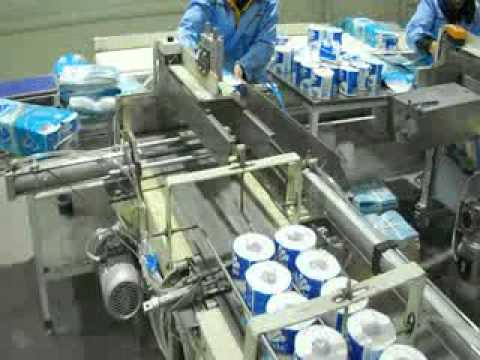 Toilet Paper Wrapping Machine with log saw an d rewinder line