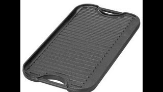 Review: Lodge Pro Grid Cast Iron Grill/griddle |cooking With Carolyn|