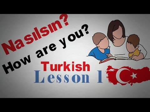 Learn Turkish Lesson 1 Greetings |  Animated thumbnail