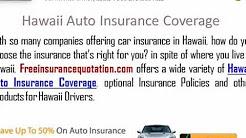 Hawaii Auto Insurance Company - Hawaii Auto Insurance Quote
