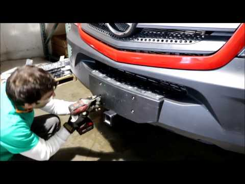 Mercedes Sprinter Front Receiver Hitch install