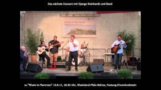 Konzert-Ankündigung Django Reinhardt und Band