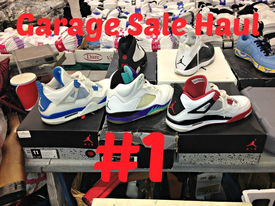 Garage Sale Haul #1.! Retro Jordan 4s and 5s.?! Jerseys and more.!! -  YouTube