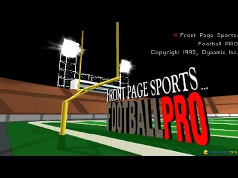 Front Page Sports: Football Pro gameplay (PC Game, 1993)