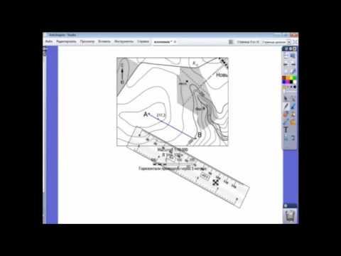 Как построить профиль рельефа местности